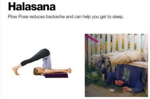 Halasana help you to sleep