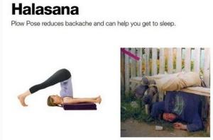 Halasana help you to sleep