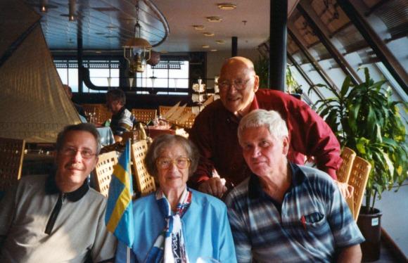 Lasse, Eivor, Börje (bror till Eivor) och jag