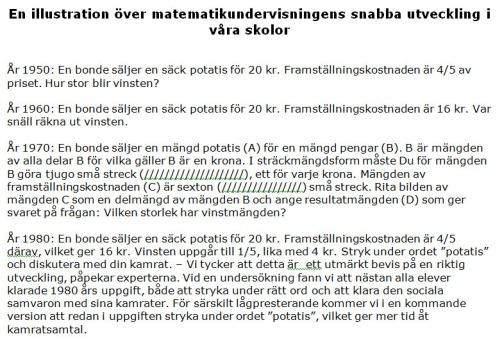 Matematikundervisningens utveckling