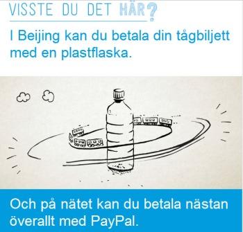 PayPal plastflaska