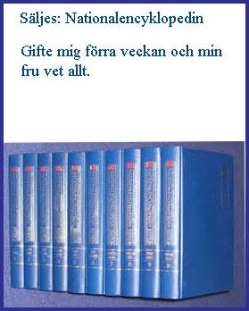 Säljes Svenska Nationalencyklopedin