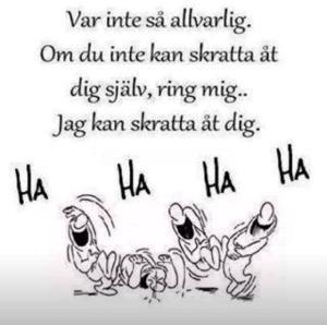 Skratta åt sig själv