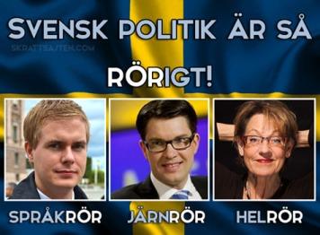 Svensk politik rörigt