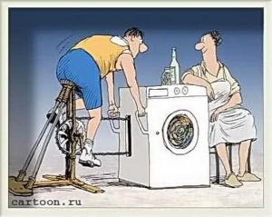 Träning tvättmaskin