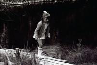 Janeth testar bryggan
