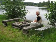 2007-08 Sunnemo Välbehövlig paus vid Stig i Väsbys grillplats