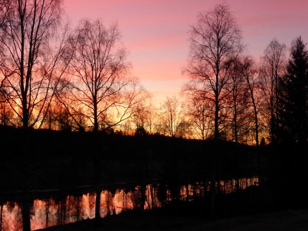 Soluppgång Luciadagen 2013
