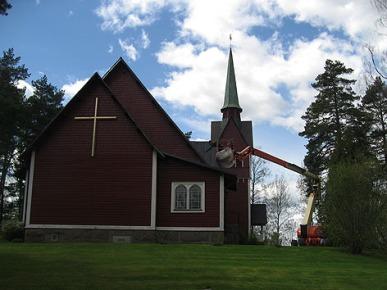 Kyrkan snyggas upp