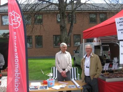 EU-val på gång, så Kjell Persson och Sten-Inge Olsson gjorde sitt för S