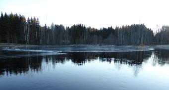 Det unika cikulära isflaket vid kanalen (Läs mer under Naturbilder, Uddeholm)