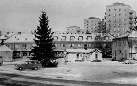 Bild fr torget Hagfors slutet 50-talet
