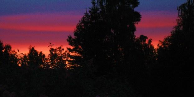... och solnedgång
