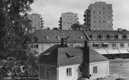Polisstation Kooperativa och höghusen på slutet av 50-talet
