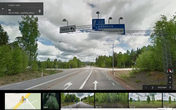 Street view Infart mot till Uddeholms GK s<a href=