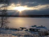 2014-01 Uddeholm Rådasjön från hotellet