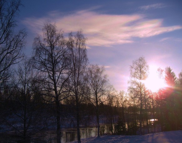 Soluppgång från balkongen 2014-01-11