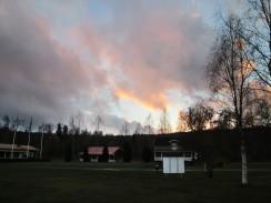 Solnedgång, vi kommer snart ...
