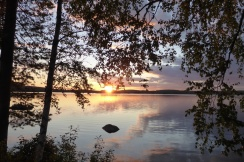 Solnedgång över Gröcken 20 juli 2017 1