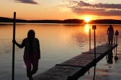 Solnedgång över Gröcken 20 juli 2017 3