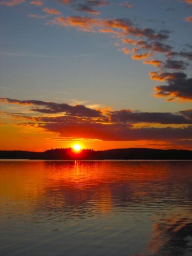 Solnedgång över Gröcken 20 juli 2017 4
