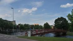 En av broarna äver Skillerälven
