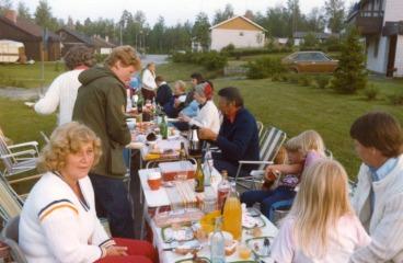 Solveig Olsson(?), Gunilla Larsson, min Ingrid, Hasse Schultzberg