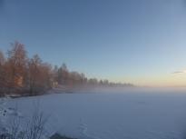 Från piren mot söder kall morgon