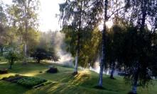 Vattenrök över Uvån