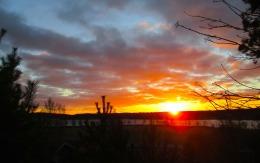 Solnedgång över Norra Gärdet
