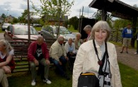 Natalia, med bl a Sören, Margit och Inga-Lill i bakgrunden