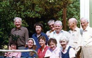 Pappa Evert 70 år 1980 Hos Anny Harry o Leif i Ulvsunda