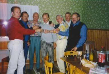 Gösta Lövqvist, Kenneth Spångberg, Rune Nilsson, Arna Dahlgren, jag själv, Tore Lundberg och Lars.Gunnar Hedlund.