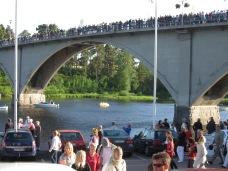 20080620 Midsommar 4 Leksand Väntan på roddarlagen