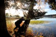 ... och här en som vräker ner ett tråd i Rådasjön
