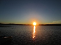 Södra gärdet solnedgång