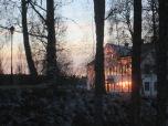 Herrgården vid solnedgång