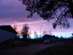 2015-12 Solnedgång Björkbacken från trädgården
