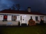 Huset med adventsbelysning