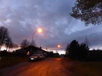Solnedgång Björkbacken från trädgården