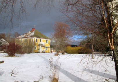 Vinterbild från Herleniusvägen