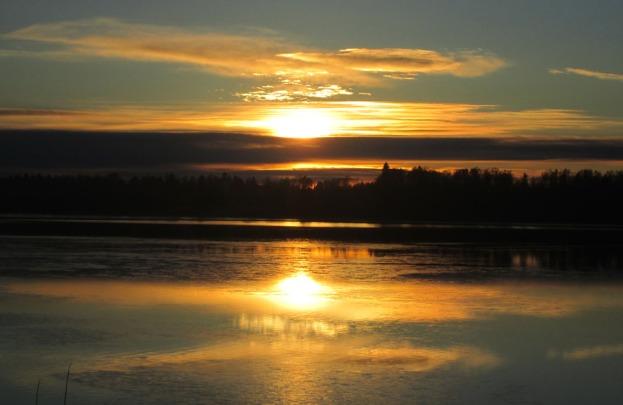 Solnedgång över Rådasjön 30 nov 2016
