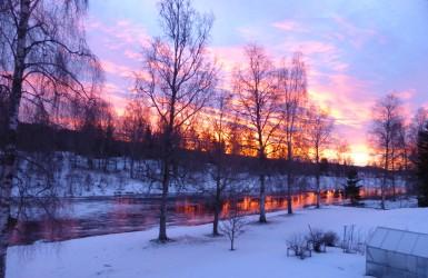 Uddeholm soluppgång från balkongen