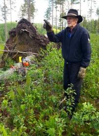 Sven hjälper Stig i Väsby efter storm