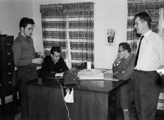 Jag, Leif Sjöstedt, Knut Jansson o Gunnar Andersson