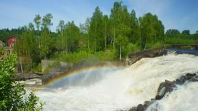 Munkfors regnbåge över Munkforsen maj 2018