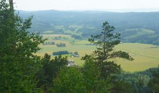 Tossebergsklätten, vy mot sydväst