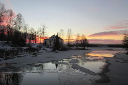 2019-01-17 Uvåns mynning från gamla bron
