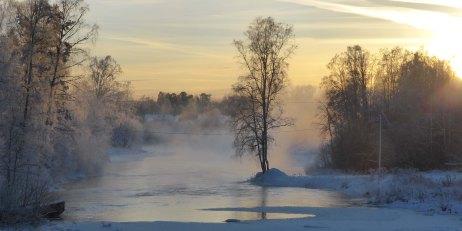2019-01 Stjärnsfors från gångbron Stjärnsfors