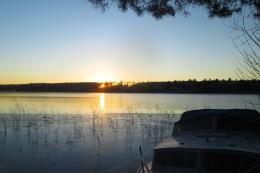 201811273Klarälvbanan solnedgång över Rådasjön